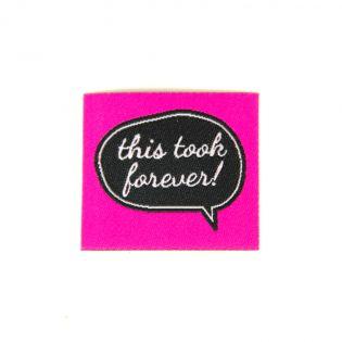 Label - Forever - pink