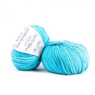 Phildar - Phil Degrade - eglantine - türkis-blau