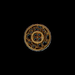 Metallknopf - 4-Loch - bronze