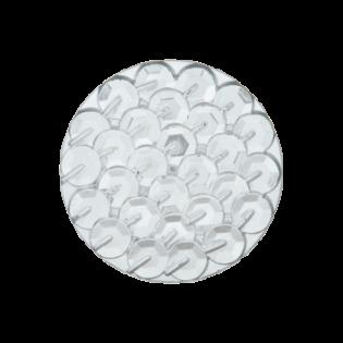 Öse - Pailletten-Look - 18 mm - silber