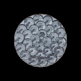 Öse - Pailletten-Look - 18 mm - grau