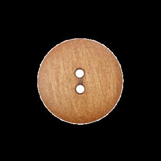2-Loch-Knopf - Holzoptik - 12 mm
