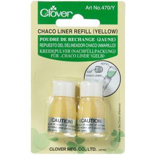 Clover - Chaco Liner - Kreidepulver zum Nachfüllen - gelb