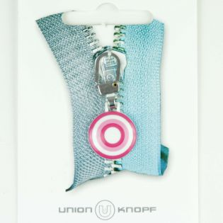 Reißverschlussanhänger - Tante Ema - Zirkelbonbons - weiß, rosa, pink
