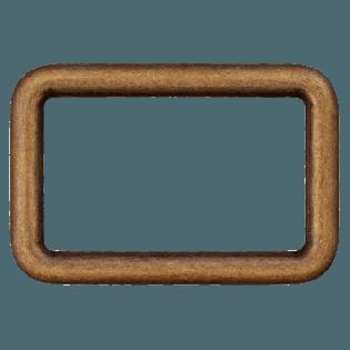 Rechteck-Ring - 40 mm - Metall - brüniert