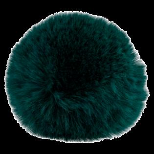 Pompon - Fake Fur - 80 mm - grün