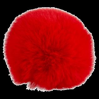 Pompon - Fake Fur - 80 mm - rot