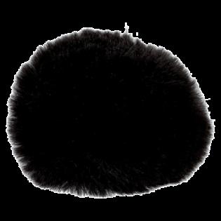 Pompon - Fake Fur - 80 mm - schwarz
