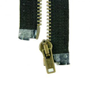 Reißverschluss Opti - M40-gold - 40cm - Werraschieber - teilbar - schwarz
