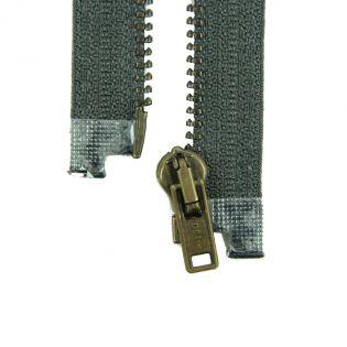 Reißverschluss Opti - M40-gold - 30cm - Werraschieber - teilbar - granit