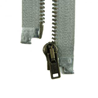 Reißverschluss Opti - M40-gold - 40cm - Werraschieber - teilbar - grau