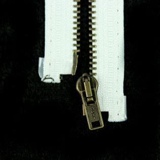 Reißverschluss Opti - M40-gold - 30cm - Werraschieber - teilbar - weiß