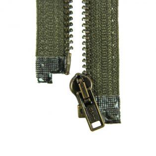 Reißverschluss Opti - M40-gold - 50cm - Werraschieber - teilbar - sumpf