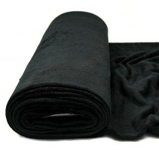 Wellnessfleece - uni - schwarz