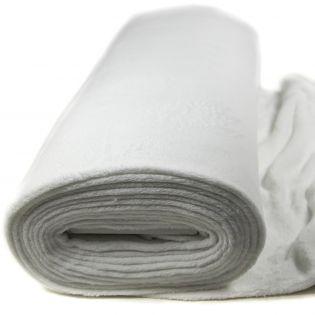 Wellnessfleece - uni - weiß