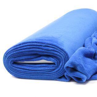 Wellnessfleece - uni - kornblumenblau