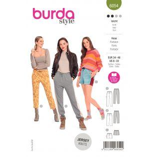 Schnittmuster - burda style - Jogpants in drei Längen mit Seitenstreifen - 6054