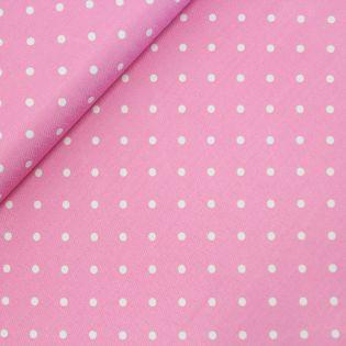 Jacquard-Seide - gepunktet - rosa-weiss