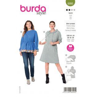 Schnittmuster - burda style - Shirt - Kleid Gummizug in der Taille - 6095