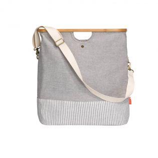 """Prym - Store & Travel Bags """"Canvas & Bamboo"""" - Größe M - grau"""