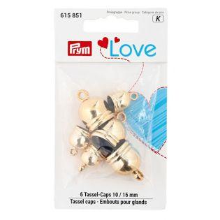 Prym Love Tassel caps 10 + 16 mm goldfarbig