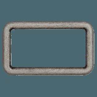 Rechteck-Ring - 40 mm - Metall - altsilber