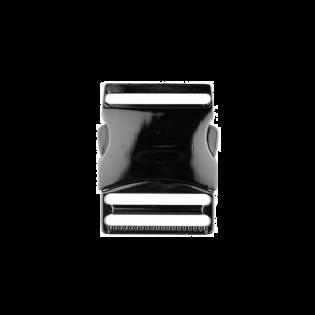 Metall Steckschnalle - 40mm - Anthrazit