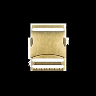 Metall Steckschnalle - 40mm - Brüniert