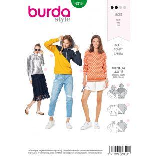 Schnittmuster - burda style - Sweatshirt – Hoody – Colourblocking