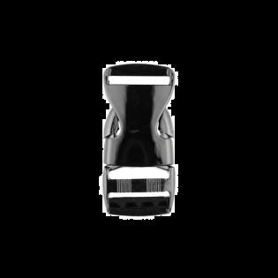Metall Steckschnalle - 25mm - Anthrazit