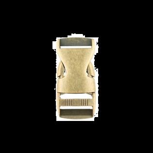 Metall Steckschnalle - 25mm - Brüniert