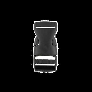 Metall Steckschnalle - 25mm - Schwarz