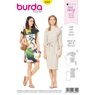 Schnittmuster - burda style - Kleid – Fledermausärmel – überschnittene Schultern
