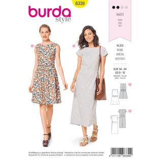 Schnittmuster - burda style - Kleid mit Taillenblende – flacher Ausschnitt