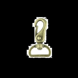 Metall Karabinerhaken - 25mm - Brüniert