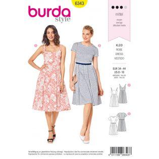 Schnittmuster - burda style - Kleid mit Faltenrock –Trägerkleid