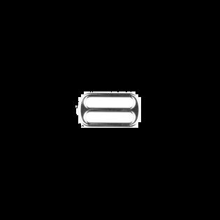 Metall Leiterschnalle - 25mm - Silber
