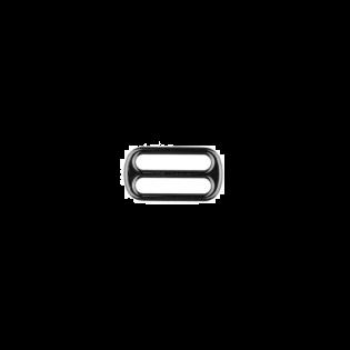 Metall Leiterschnalle - 25mm - Anthrazit