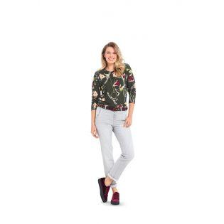 Schnittmuster - burda style - Shirt mit interessanten Ärmeln, Rollkragen oder Saumrüsche
