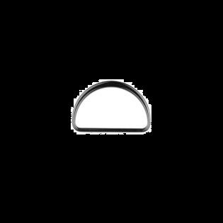 Metall D-Ring - 40mm - Anthrazit