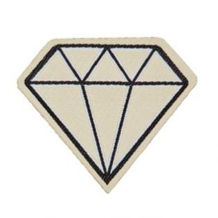 Applikation - gewebt - Diamant