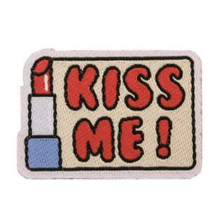 Applikation - gewebt - Kiss me!