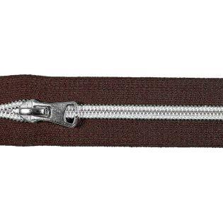 Spiralreißverschluss - S80 - Meterware - mit Zipper - braun