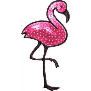 Applikation - Flamingo - Pailletten