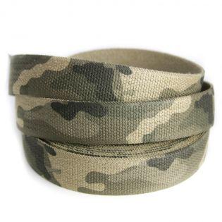 Gummiband - Camouflage - 35 mm - beige