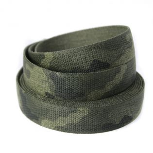 Gummiband - Camouflage - 35 mm - grün