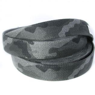 Gummiband - Camouflage - 35 mm - grau