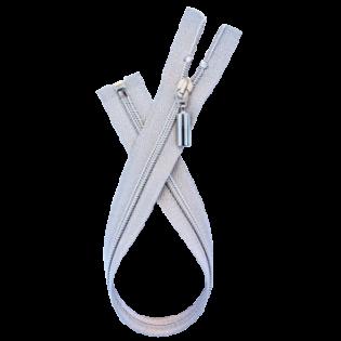 Reißverschluss - teilbar - 50 cm - silber