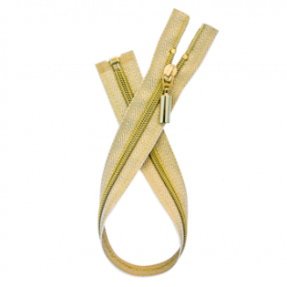 Reißverschluss - teilbar - 60 cm - gold