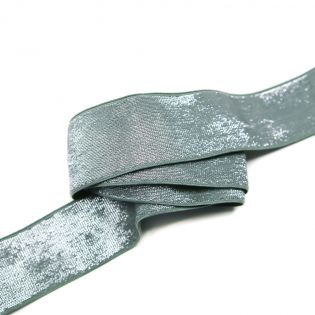Gummiband - 40mm - silber/grau